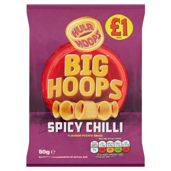 Big Hoops Spicy Chilli 80g